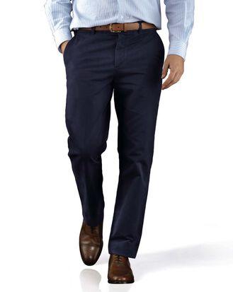 Pantalon chino du week-end bleu slim fit à devant plat