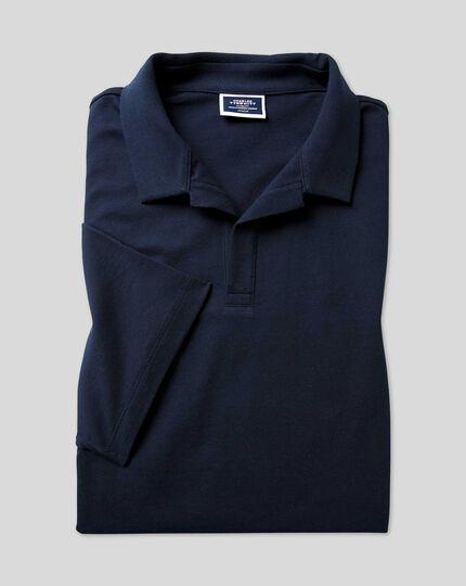 Tyrwhitt Pique Resort Collar Polo - Navy