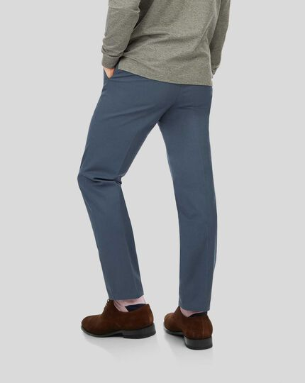 Smart Non-Iron Chinos - Airforce Blue