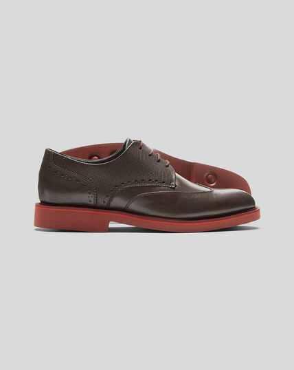 Extra Lightweight Derby Shoe  - Brown