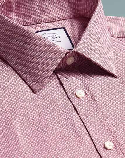 Slim fit Egyptian cotton chevron pink shirt