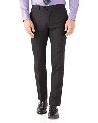 Charcoal slim fit hairline business suit pants