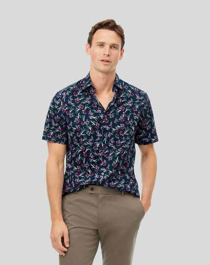 Classic Collar Anemone Shirt - Dark Navy