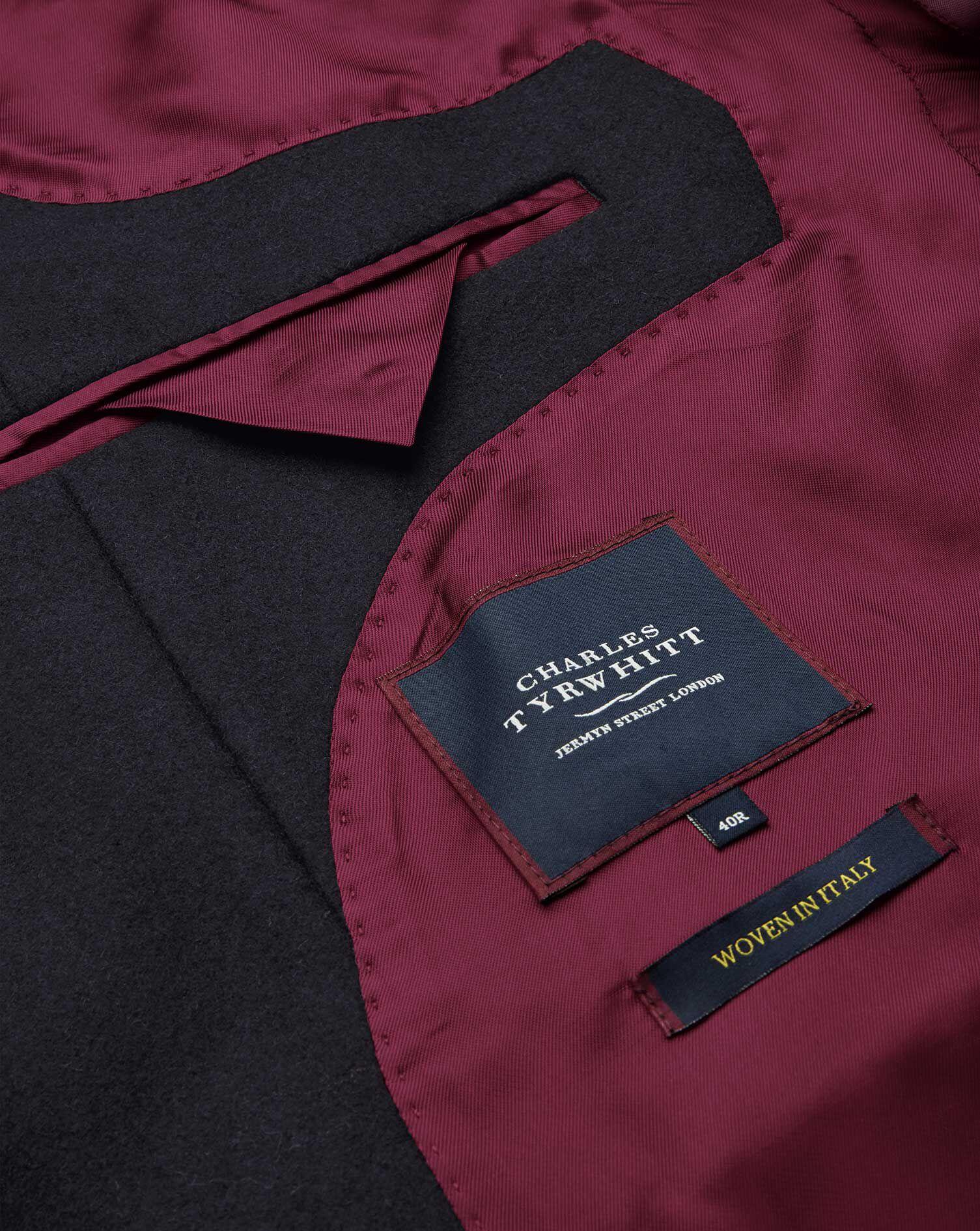 Deckkaro mit Mantel in Epsom aus Marineblau Wolle c34RqAjL5