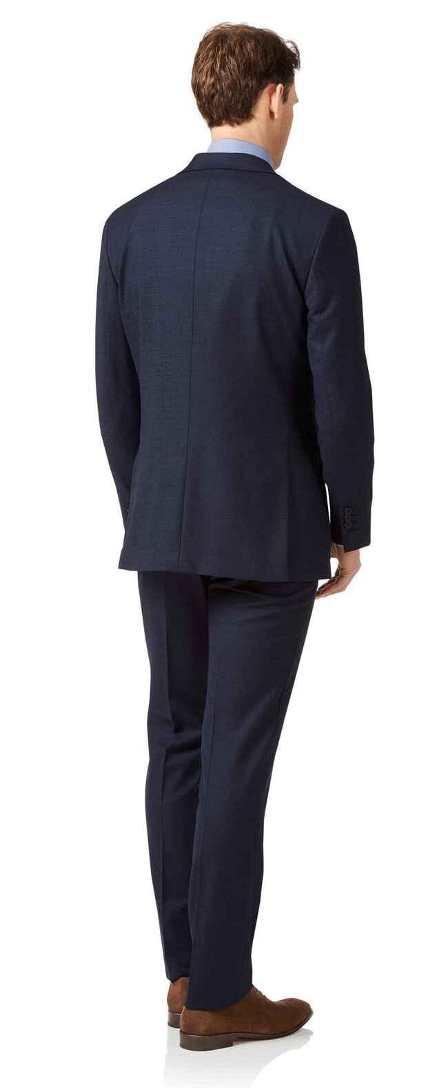 Business-Anzug Slim Fit Jaspégarn Marineblau