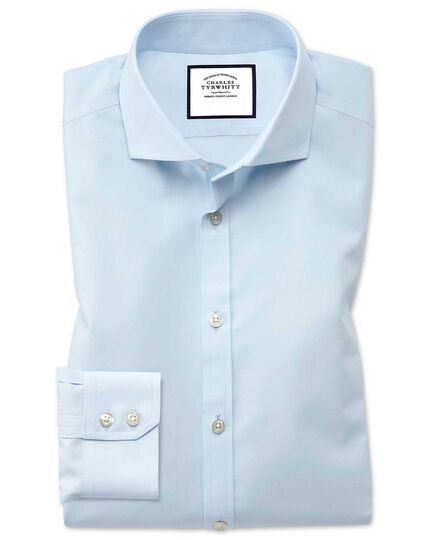 Slim fit non-iron spread collar sky blue Tyrwhitt Cool shirt