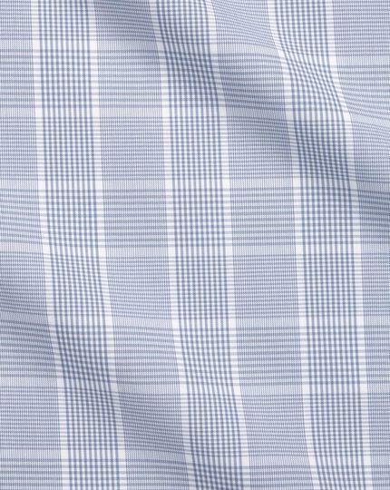Bügelfreies Slim Fit Hemd mit Prince-of-Wales-Karos in Grau