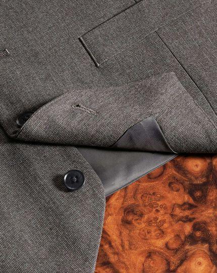 Gilet de costume business moka coupe ajustable à motif milleraies
