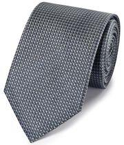 Grey tonal silk classic tie