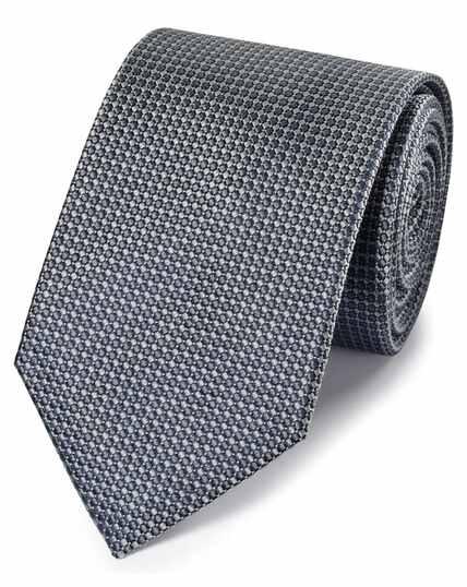 Cravate classique grise en soie