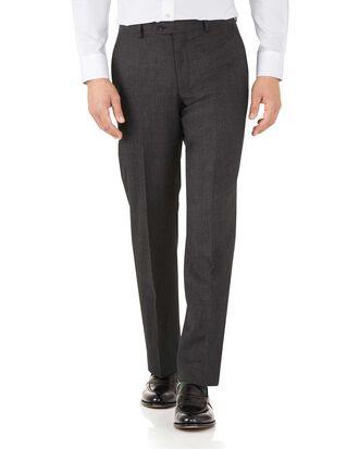 Charcoal classic fit hairline business suit pants