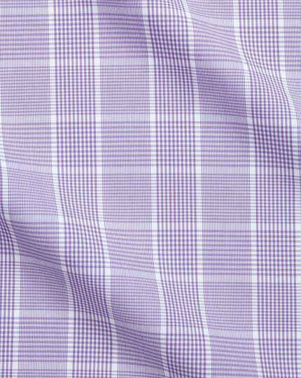 Chemise Prince de Galles lilas slim fit sans repassage