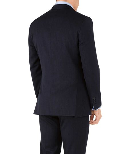 Veste de costume business bleu marine slim fit avec motif milleraies