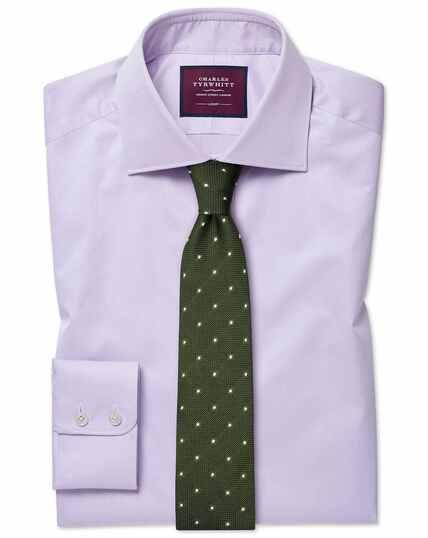 Slim fit luxury twill lilac shirt