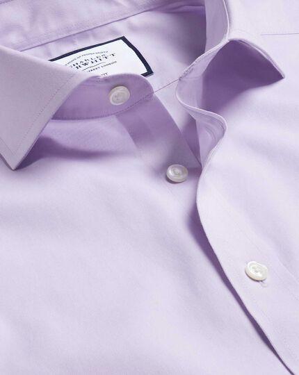 Bügelfreies Popeline-Hemd mit Haifischkragen - Lila