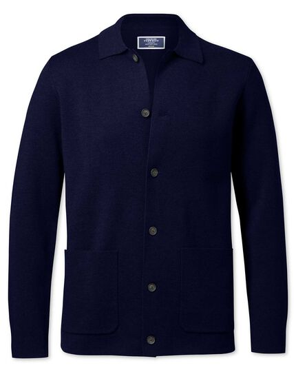 Navy merino wool jacket
