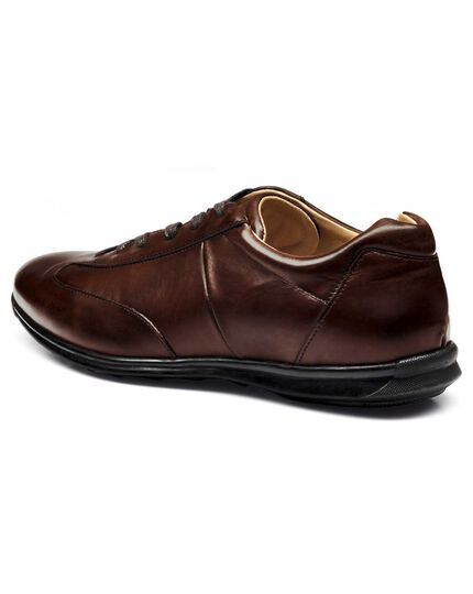 Brown business casual sneakers