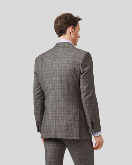 Top Drawer Prince of Wales Check Suit Jacket - Grey