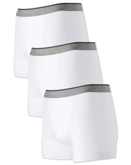 White jersey 3 pack trunks