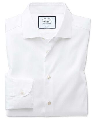 Chemise business casual blanche avec textures modernes sans repassage extra slim fit