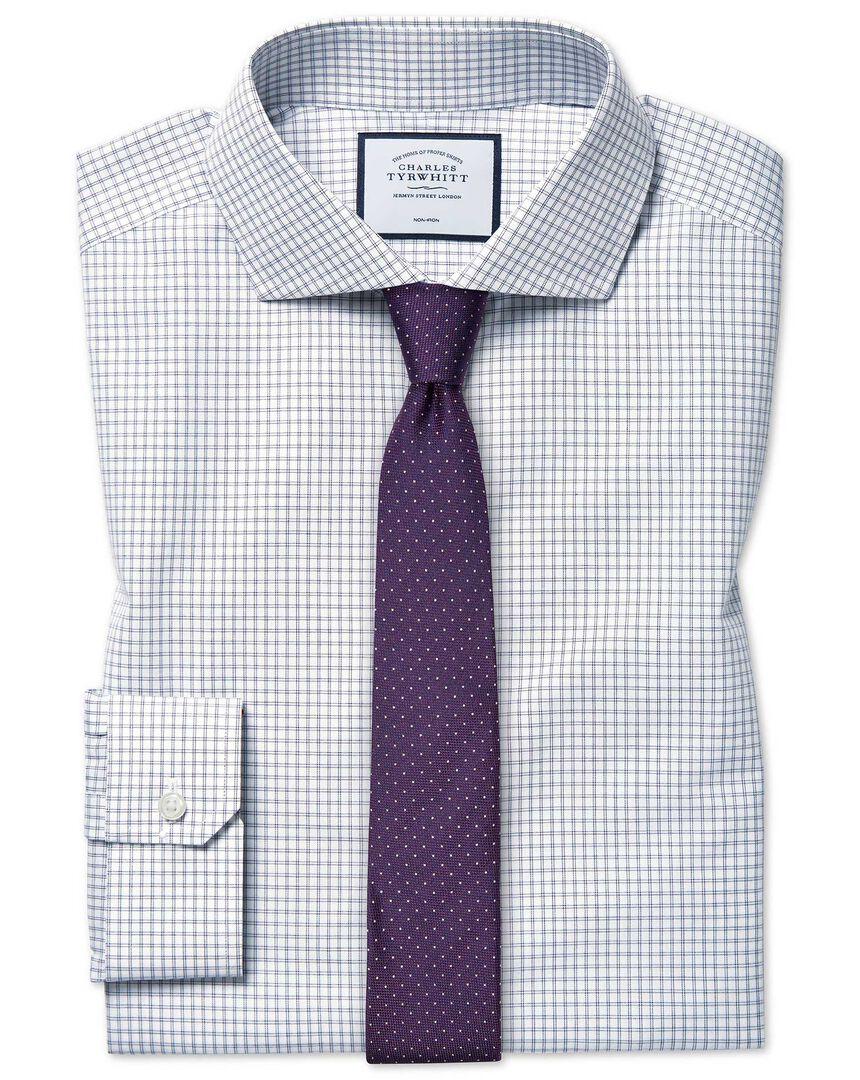 Super slim fit non-iron 4-way stretch navy shirt