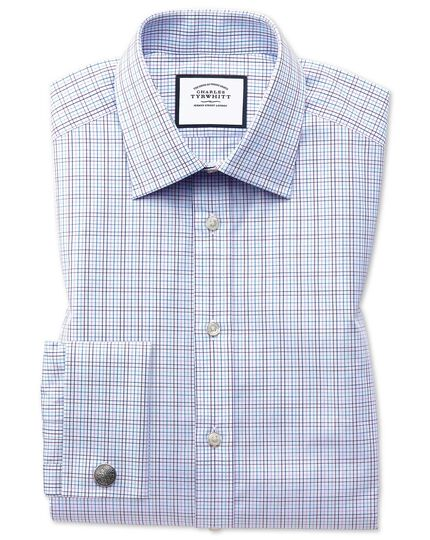 Multi Check Egyptian Cotton Shirt - Purple