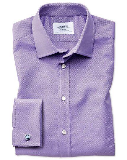 Slim Fit Royal Oxfordhemd aus ägyptischer Baumwolle in Flieder