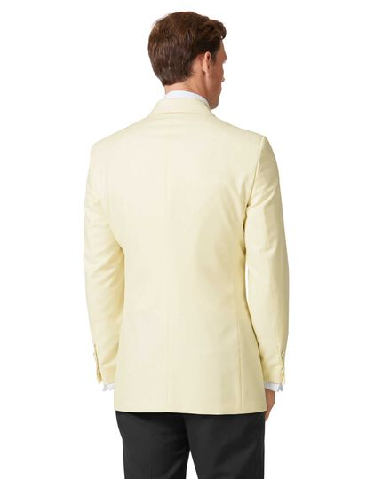 Cream slim fit shawl collar tuxedo jacket