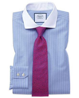 Slim fit cutaway non-iron Winchester blue and white shirt