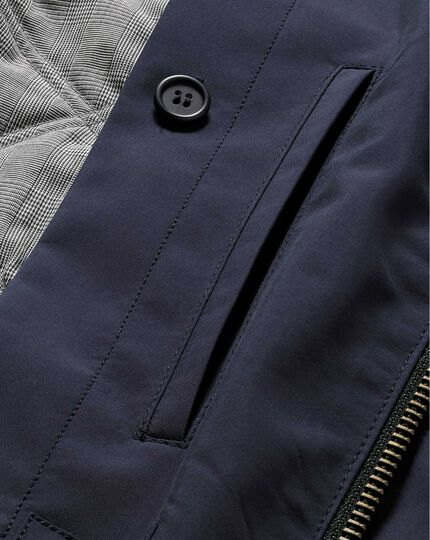 Navy showerproof field coat