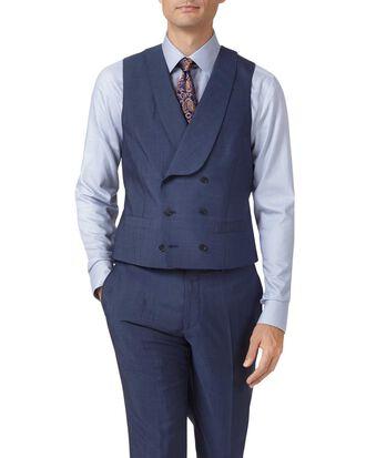 Blue adjustable fit Italian wool luxury suit vest