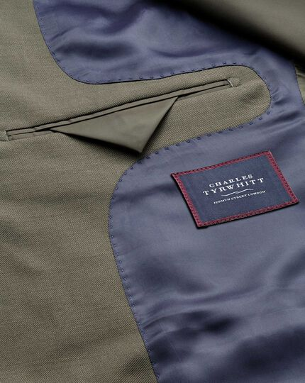 Olive classic fit twill business suit jacket