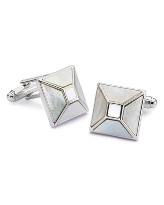 Mother of Pearl square evening cufflinks