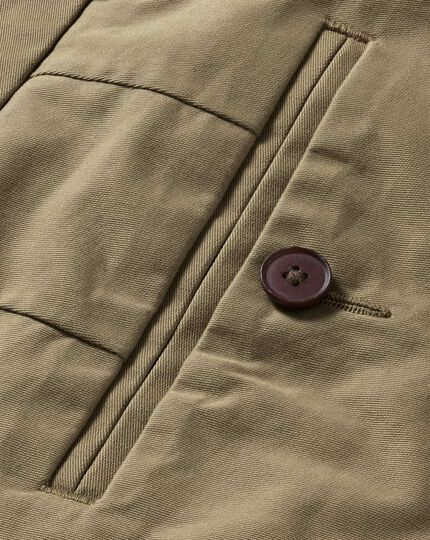 Tan slim fit stretch chinos