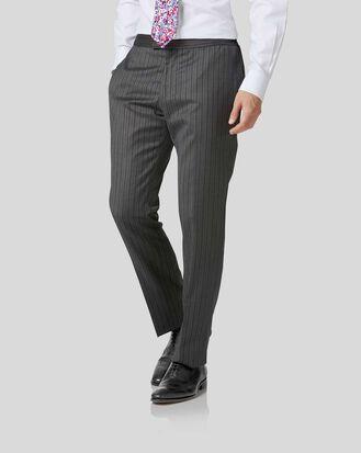 Pantalon de costume charcoal slim fit à rayures