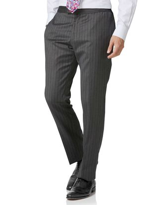 Charcoal stripe slim fit morning suit pants
