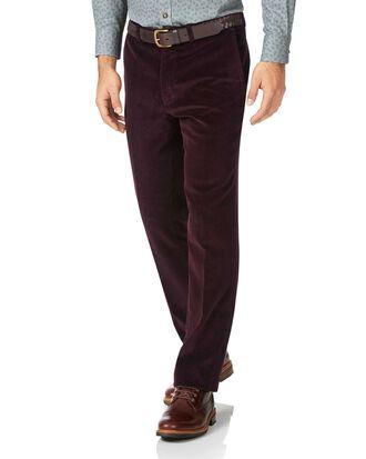 Wine slim fit jumbo corduroy pants