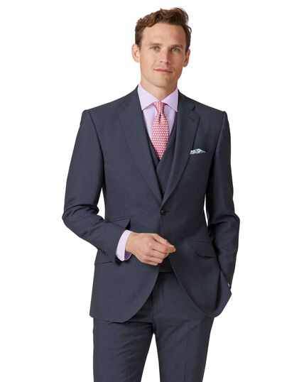 Blue Panama slim fit British suit jacket