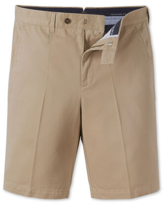 Classic Fit Chino-Shorts in beige
