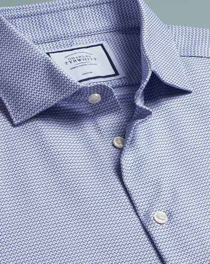 Non-Iron Natural Stretch Shirt - Blue