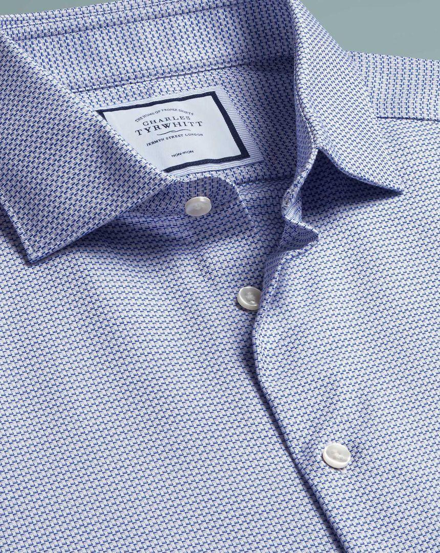 Non-Iron Natural Stretch Shirt - Blue