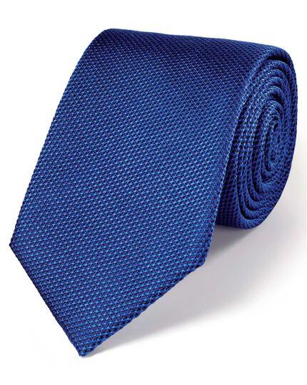 Royal blue silk plain classic tie
