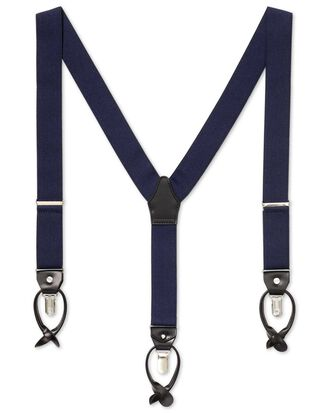 Navy combination suspenders