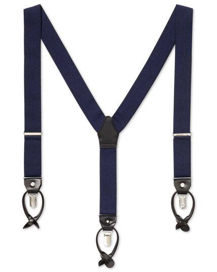Navy combination suspenders