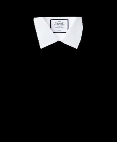 Classic fit non-iron white royal Panama shirt