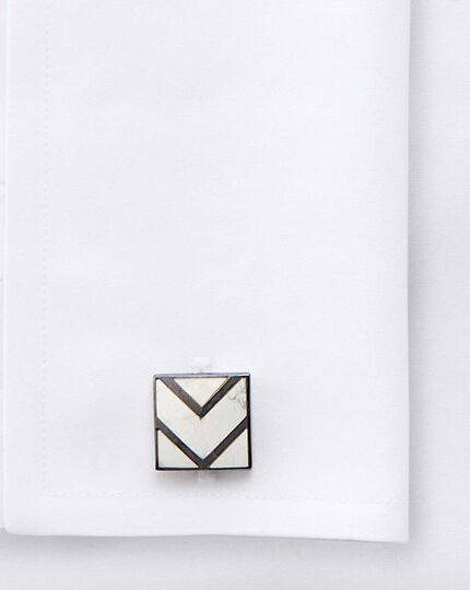 Marble square abstract triangle cufflinks