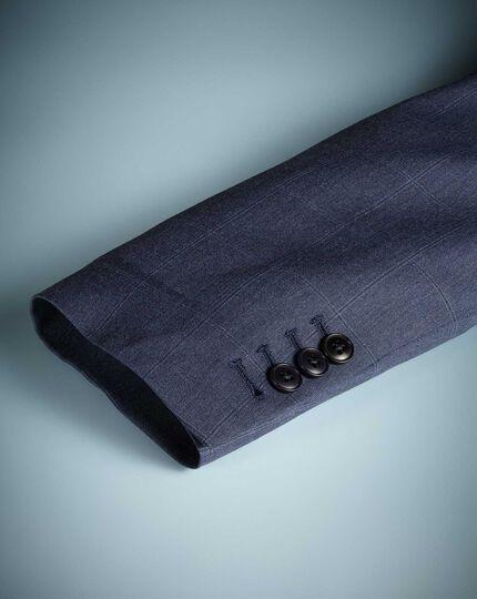 Airforce blue slim fit Italian suit jacket