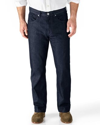 Classic Fit 5-Pocket Denim Jeans in Dunkelblau