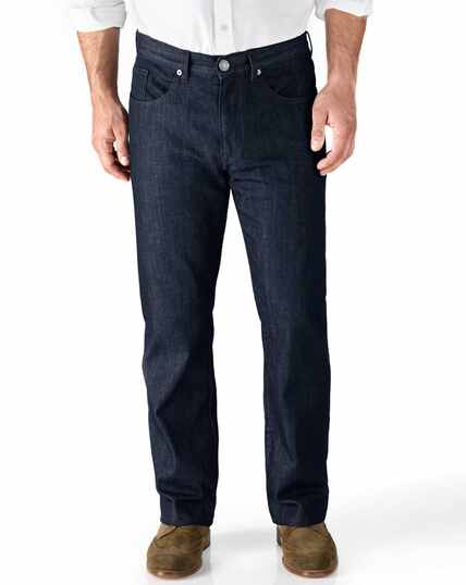Classic Fit 5-Pocket Denim Jeans in Dunkelblau