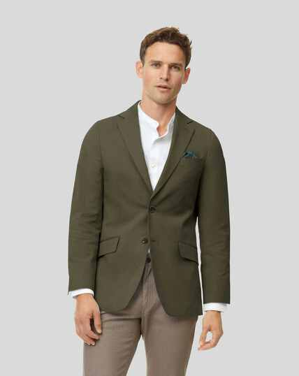 Cotton TENCEL™ Mix Jacket - Khaki